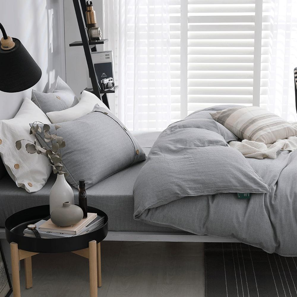 好關係 HAOKUANXI 擁抱晨霧-天然色織棉被套