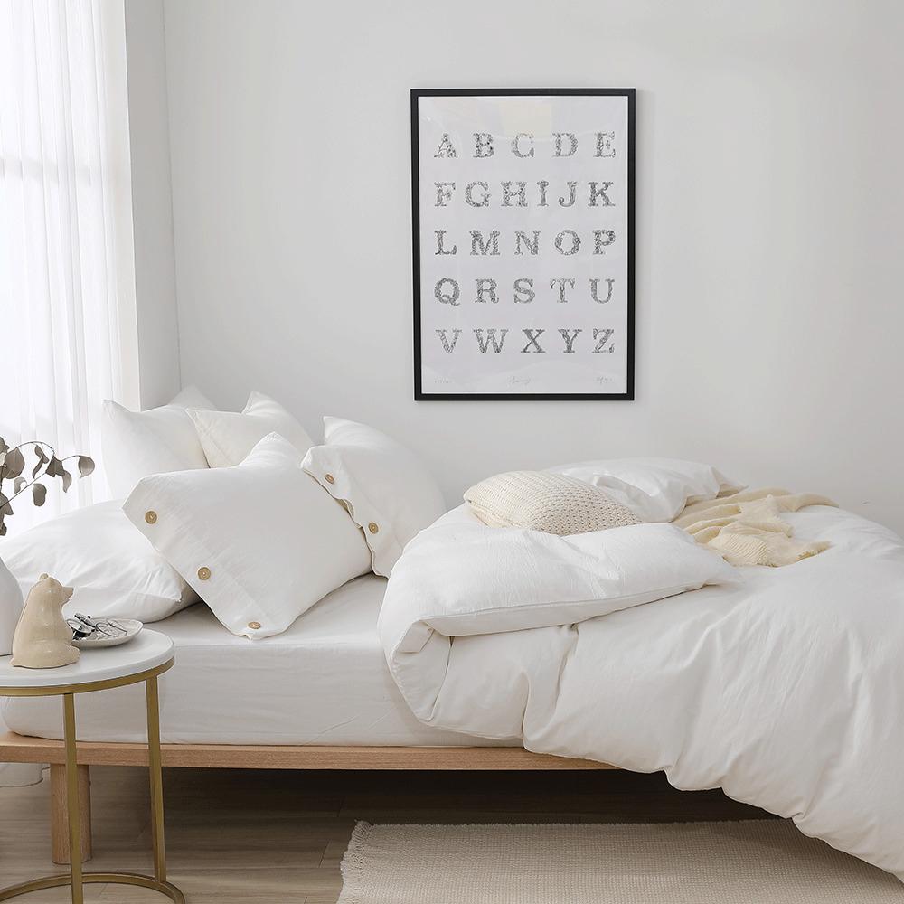 好關係 HAOKUANXI 初曉晨曦-天然色織棉床包被套枕套組-標準雙人