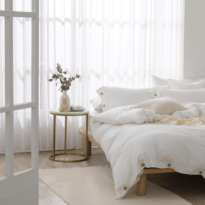 (複製)好關係 HAOKUANXI | 擁抱晨霧-天然色織棉床包被套枕套組-雙人加大