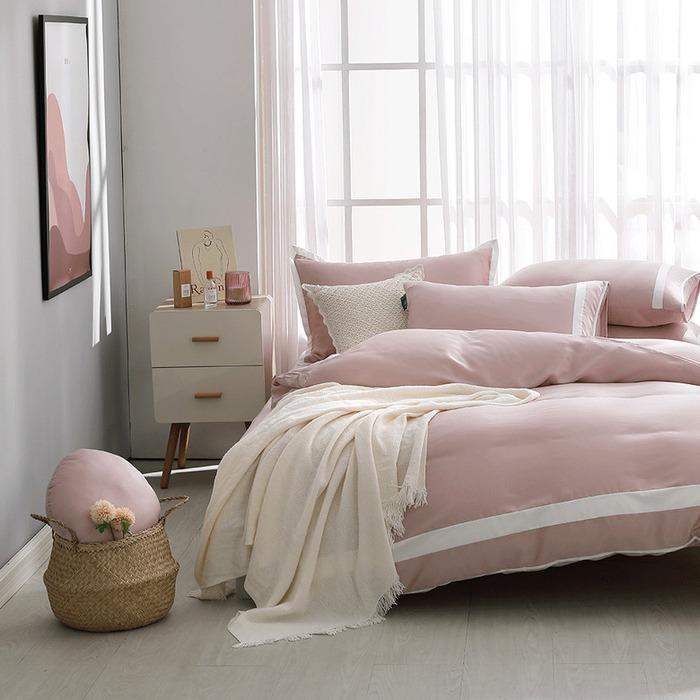 (複製)好關係 HAOKUANXI | 春日石綠-萊賽爾天絲床包被套枕套組-標準雙人