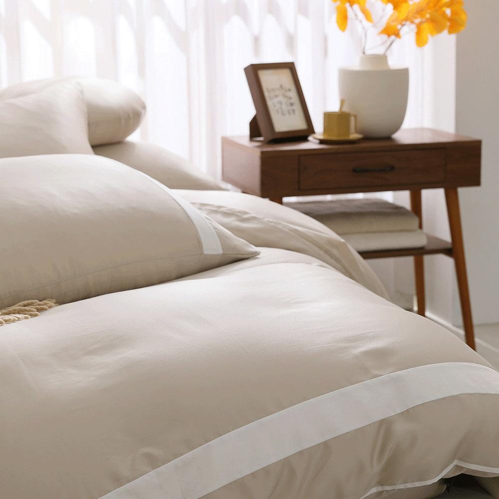 好關係 HAOKUANXI|秋日淺茶-萊賽爾天絲床包被套枕套組-標準雙人