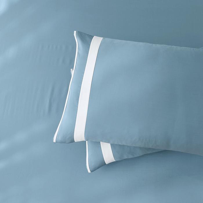 (複製)好關係 HAOKUANXI   秋日淺茶-萊賽爾天絲床包被套枕套組-標準雙人