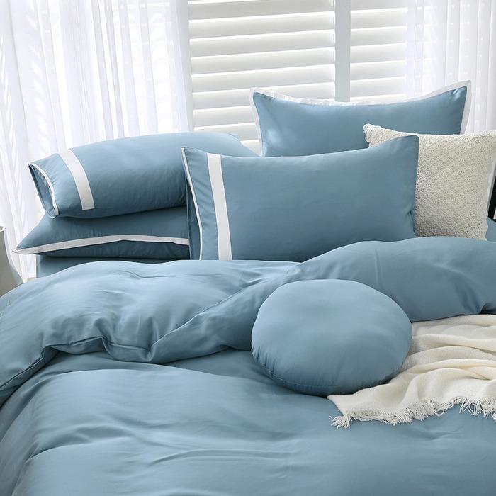 (複製)好關係 HAOKUANXI | 秋日淺茶-萊賽爾天絲床包被套枕套組-標準雙人