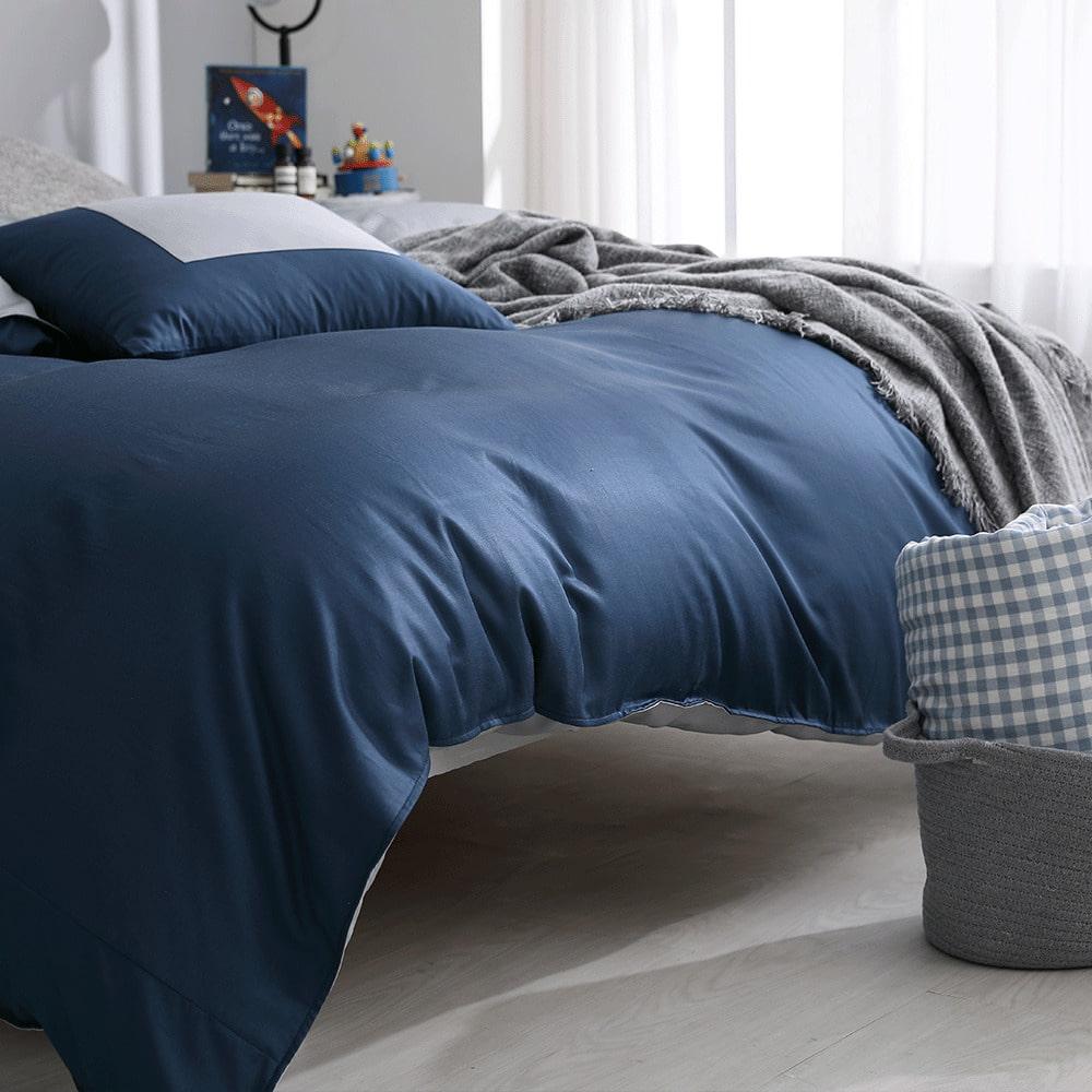 好關係 HAOKUANXI|銀河夜空-新天絲棉床邊口袋床包被套枕套組-雙人加大