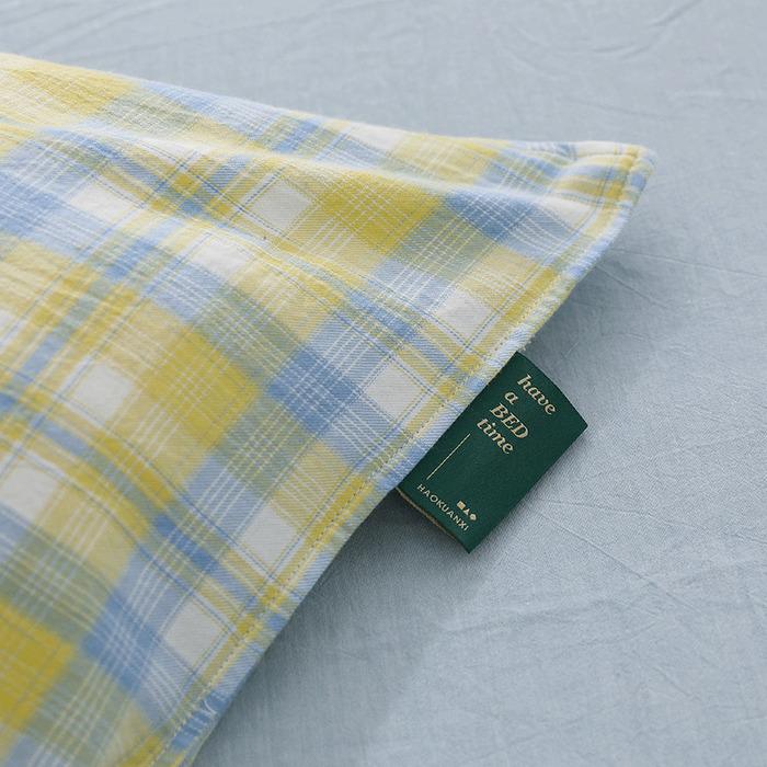 (複製)好關係 HAOKUANXI 沐浴朝陽- 天然色織棉床包被套枕套組-標準雙人