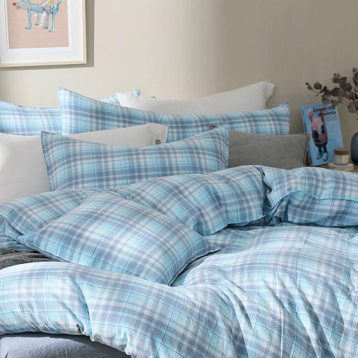 (複製)好關係 HAOKUANXI | 蜂蜜威士忌-天然色織棉床包被套枕套組-標準雙人