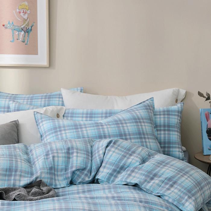 (複製)好關係 HAOKUANXI   蜂蜜威士忌-天然色織棉床包被套枕套組-標準雙人