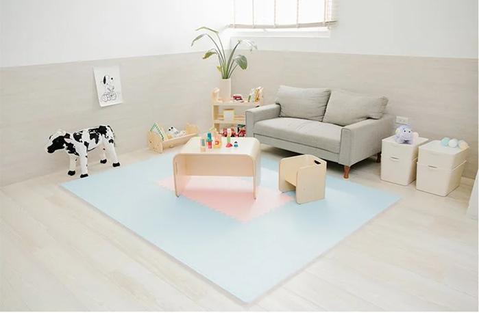 (複製)PatoPato 嬰幼兒專用馬卡龍60x60x2cm雙色地墊 - 可可&奶茶 - 箱購12片裝