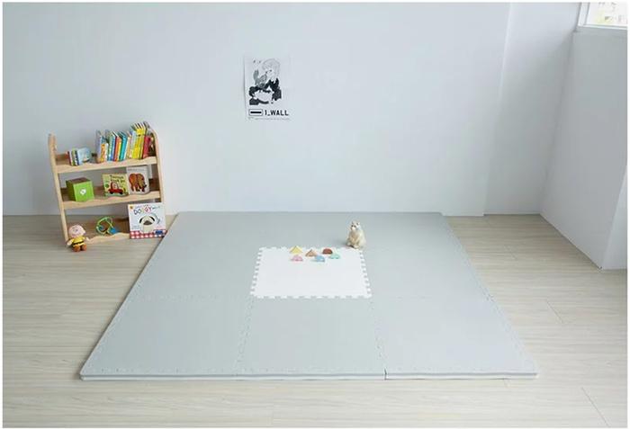 (複製)PatoPato 嬰幼兒專用馬卡龍60x60x3cm雙色地墊 - 鵝黃&紫 - 箱購9片裝