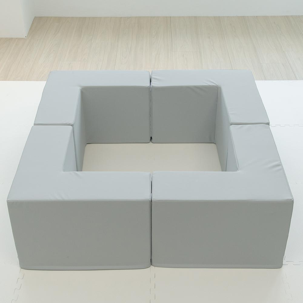 PatoPato|Hipopo方塊遊樂圍欄 - 120x120x40cm - 4入組(灰)