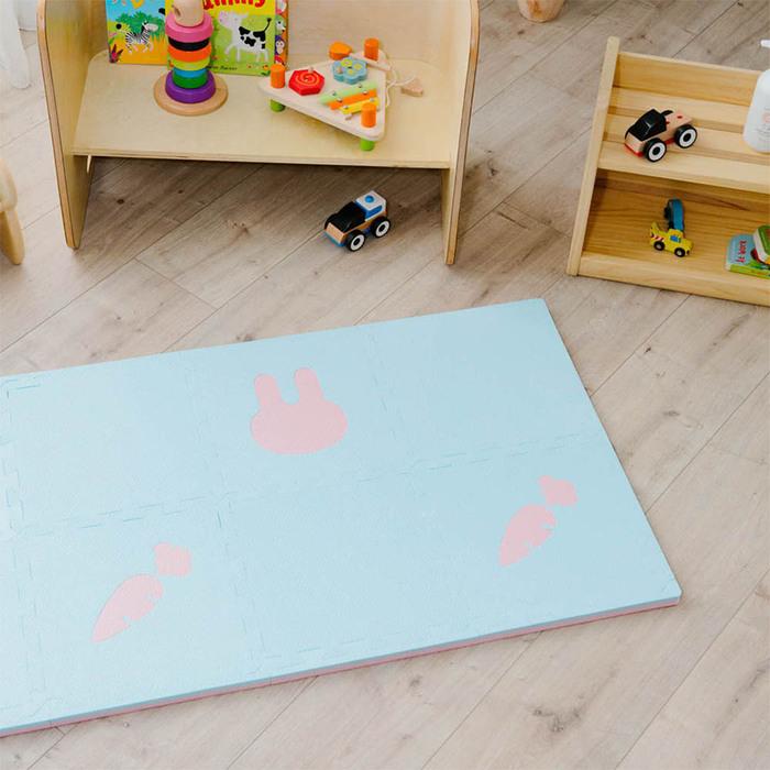 PatoPato  嬰幼兒專用動物巧拼 - 兔子愛吃紅蘿蔔 - 8片入