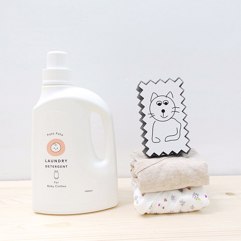 PatoPato 嬰幼兒衣物清潔液 - 1000ml x 2入+ 2000ml 補充瓶 x 2入 (共4瓶裝)