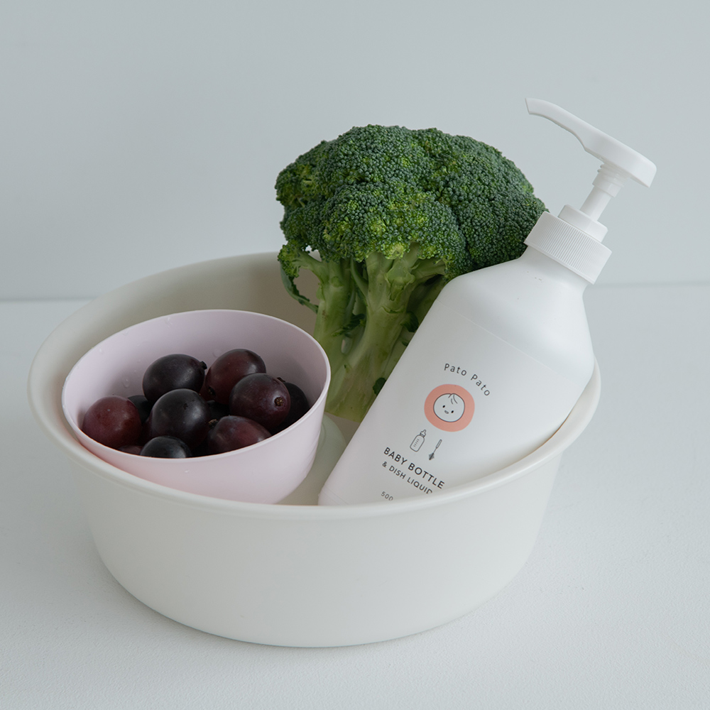 PatoPato 嬰幼兒奶瓶餐具清潔液 - 500ml x 2入+ 2000ml 補充瓶 x 2入 (共4瓶裝)