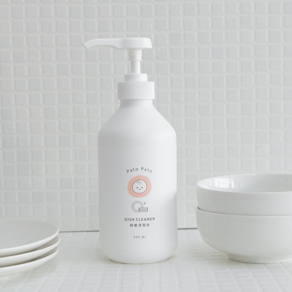 PatoPato 碗盤清潔液 - 500ml x 2入+ 2000ml 補充瓶 x 2入 (共4瓶裝)