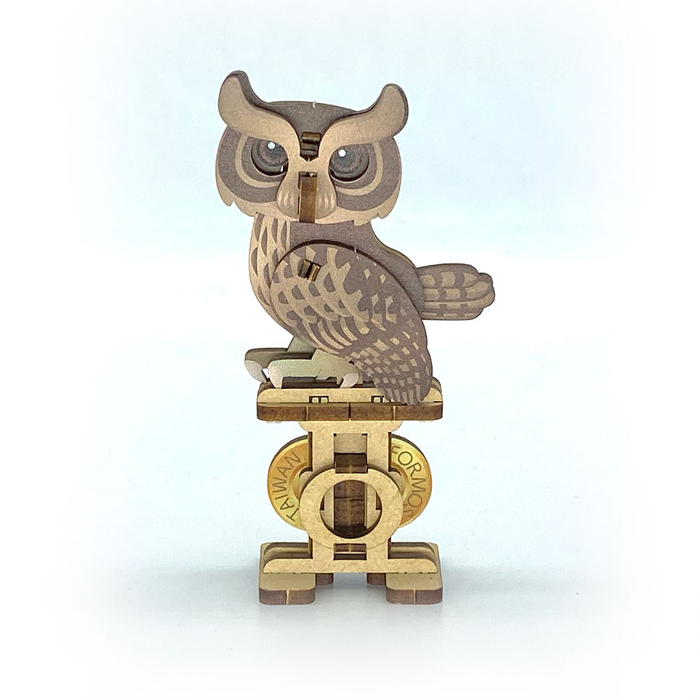 Fuumas|立體可動木質拼圖-領角鴞