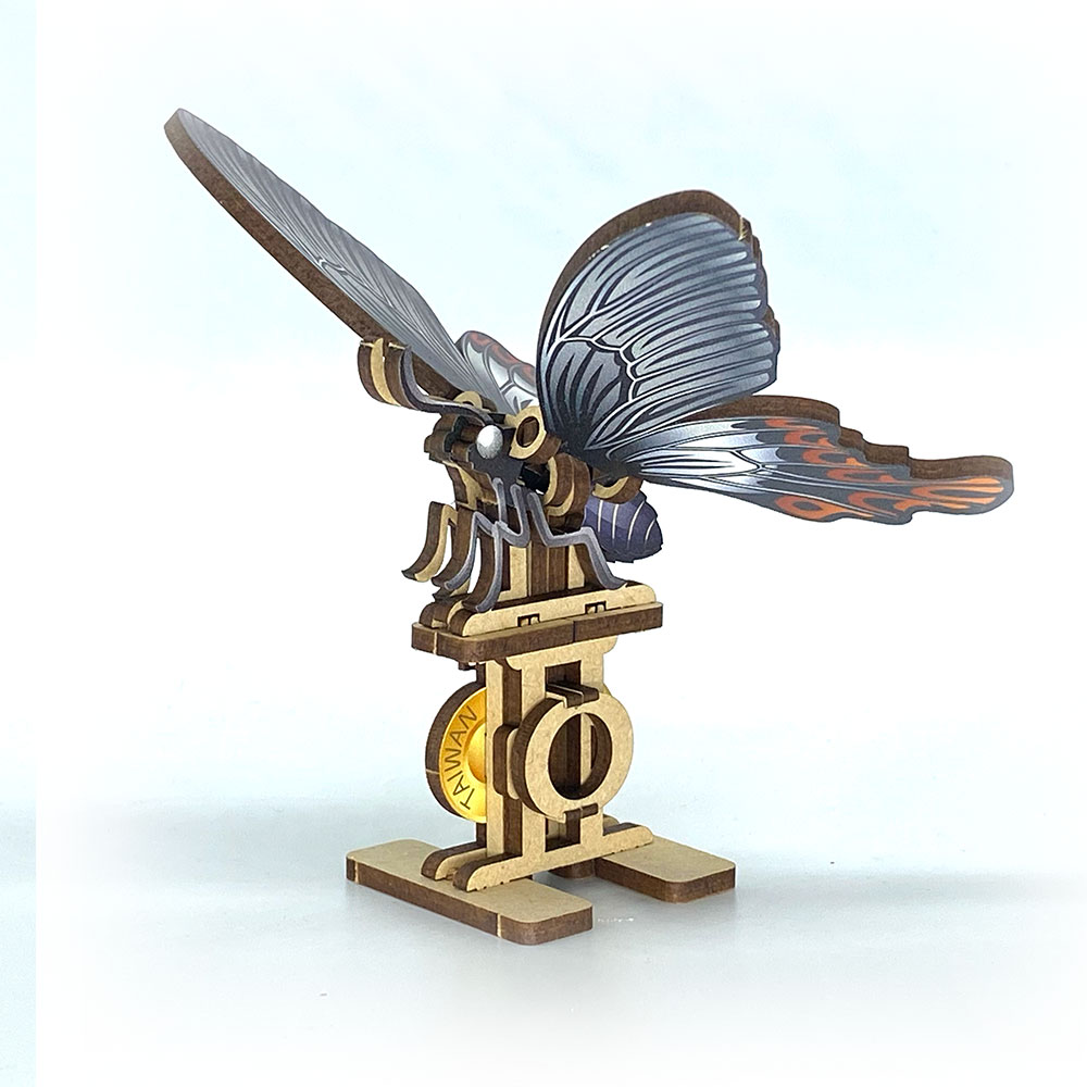 Fuumas|立體可動木質拼圖-寬尾鳳蝶