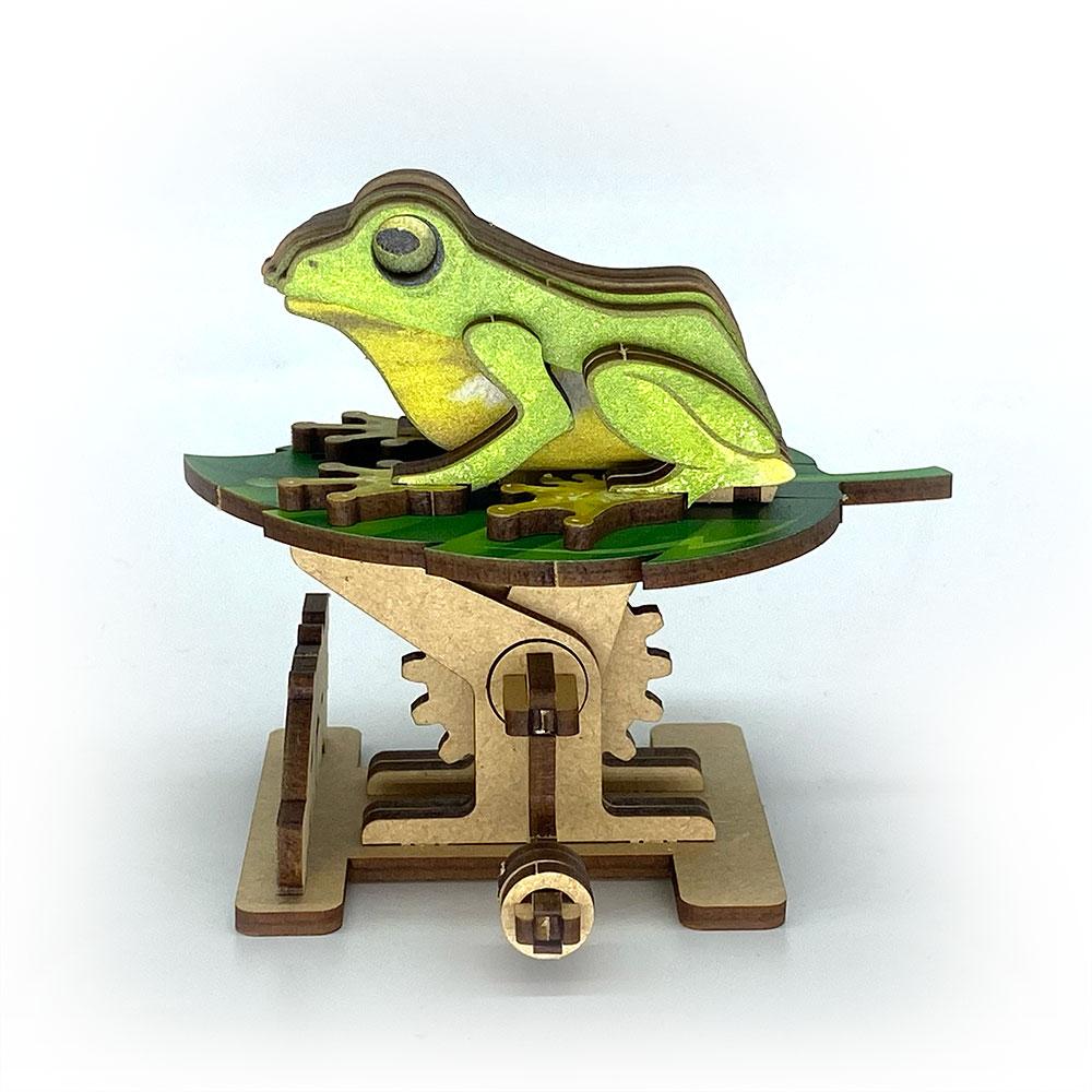 Fuumas 立體可動木質拼圖-台北樹蛙