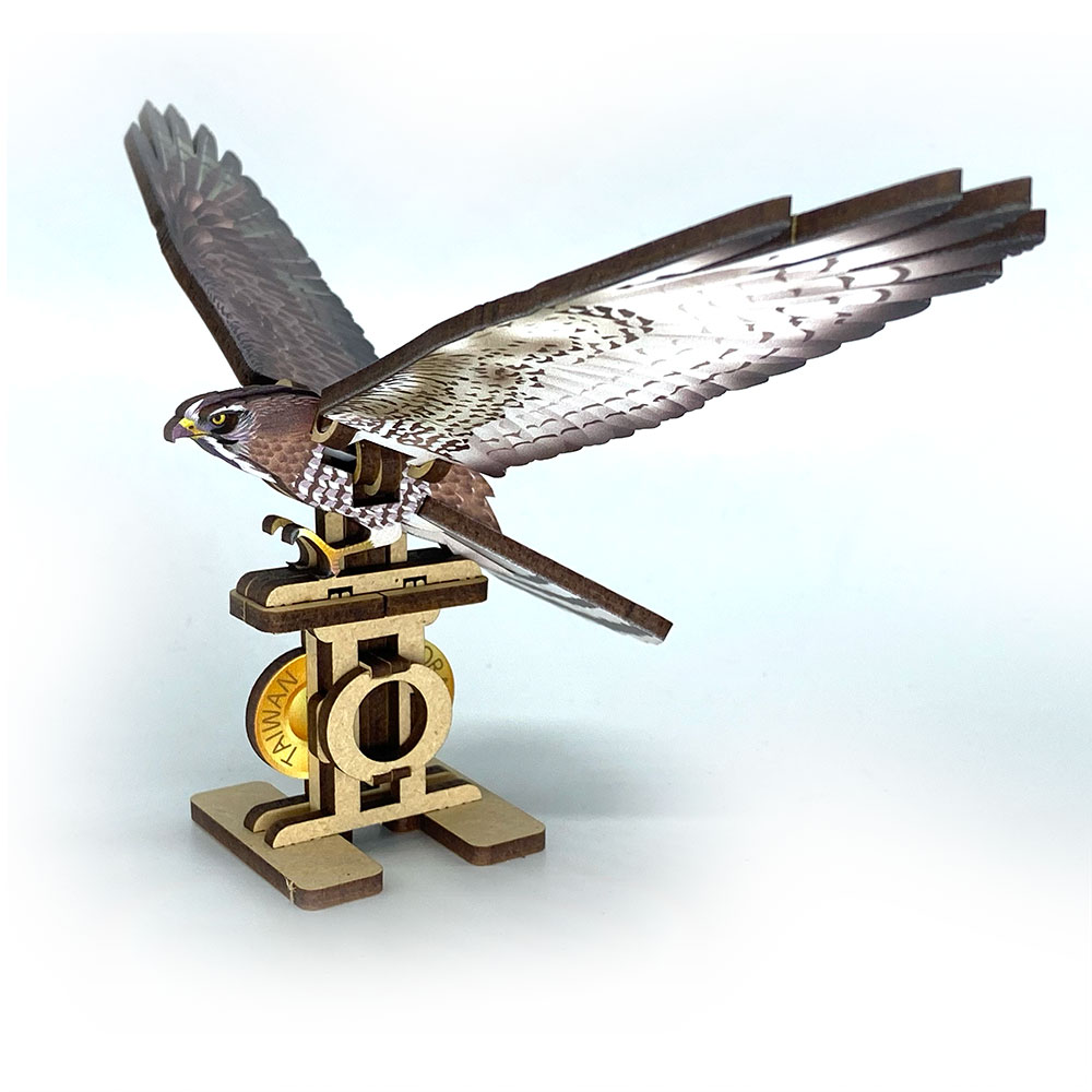 Fuumas 立體可動木質拼圖-灰面鵟鷹