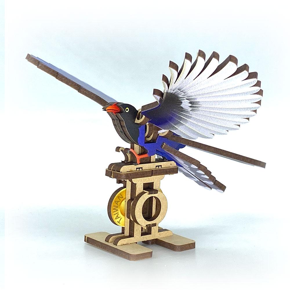 Fuumas 立體可動木質拼圖-台灣藍鵲