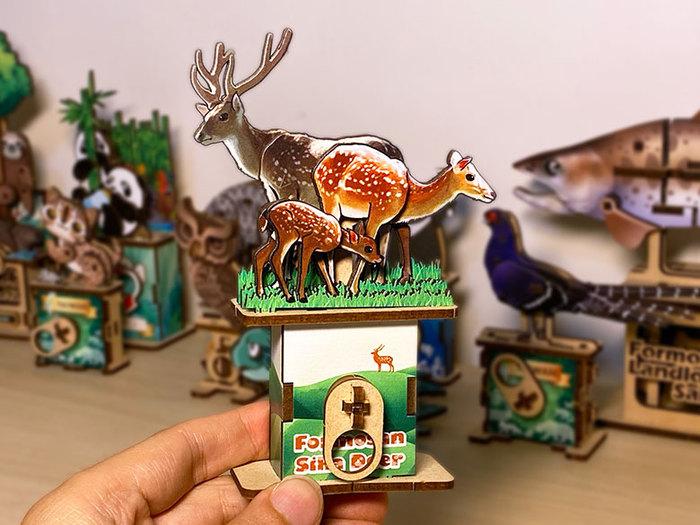 (複製)Fuumas 立體可動木質拼圖-台灣梅花鹿