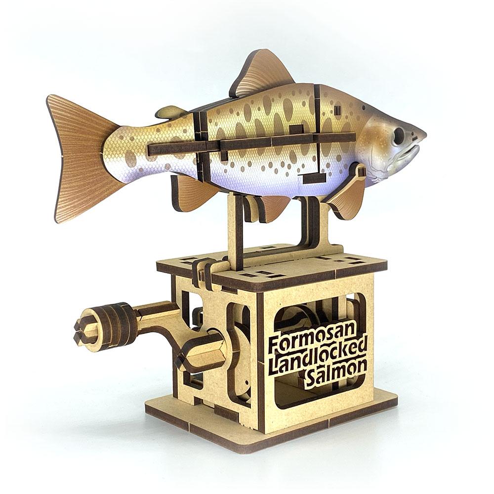 Fuumas|立體可動木質拼圖-櫻花鉤吻鮭