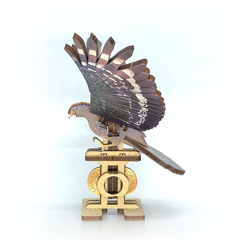 Fuumas 立體可動木質拼圖-大冠鷲