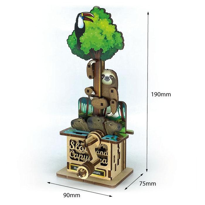 Fuumas|立體可動木質拼圖-樹獺與水豚