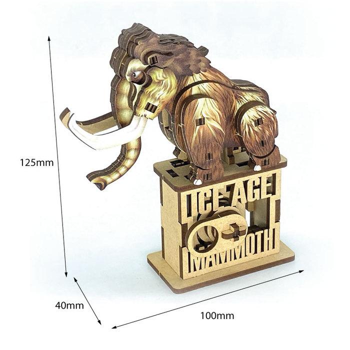 Fuumas|立體可動木質拼圖-猛瑪象