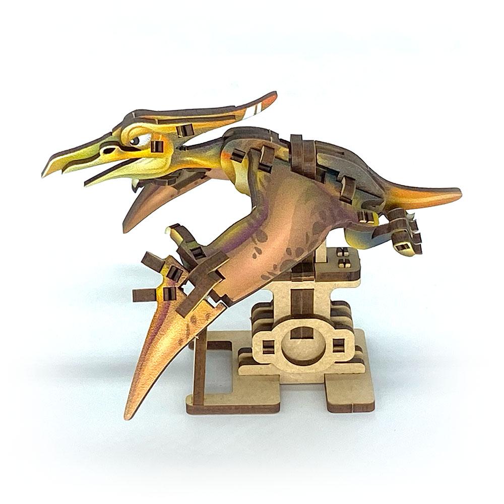 Fuumas|立體可動木質拼圖-長頭無齒翼龍