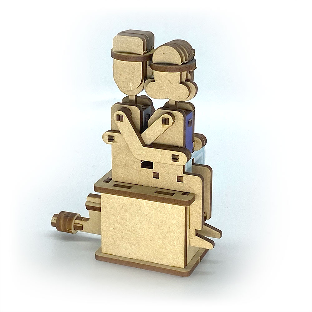 Fuumas|立體可動木質拼圖-九份老街親熱情侶