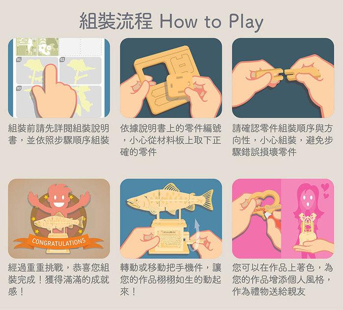 Fuumas 立體可動木質拼圖-中華白海豚