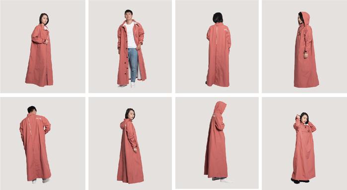 MORR 2021新版-PostPosi 反穿雨衣(個性黑)