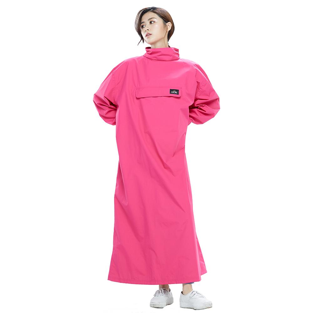 MORR|超透氣-8秒速穿-PostPosi 反穿雨衣(桃紅)