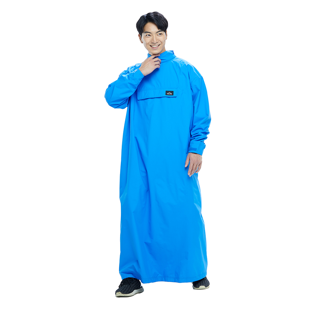 MORR 超透氣-8秒速穿-PostPosi 反穿雨衣(皇家藍)