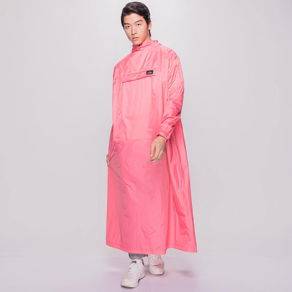 MORR|超防水-8秒速穿-PostPosi 反穿雨衣(蜜桃粉)