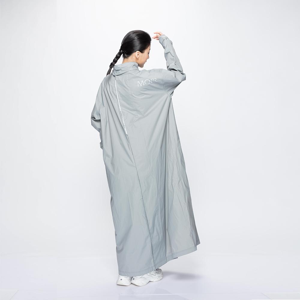 MORR 超防水-8秒速穿-PostPosi 反穿雨衣(紐約灰)