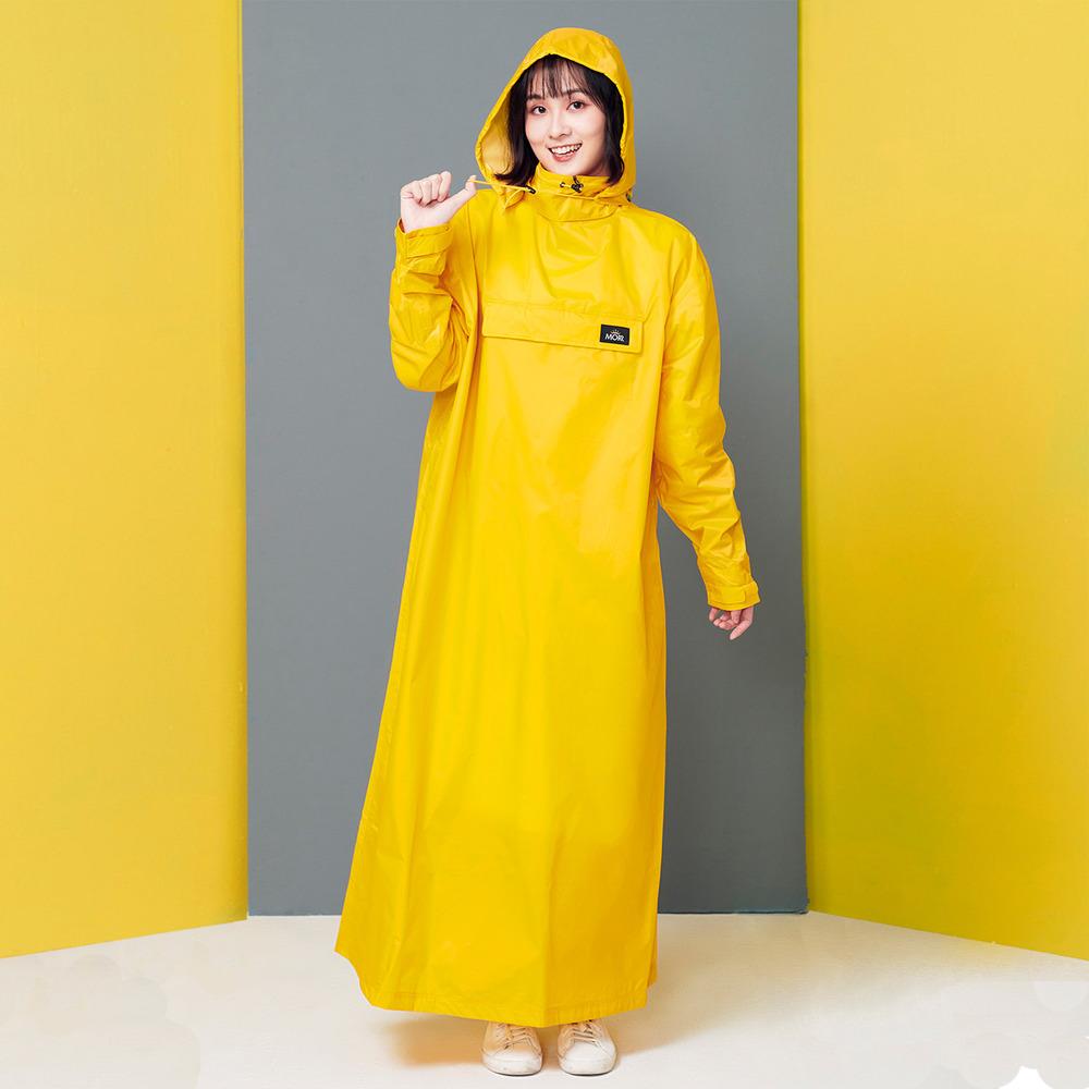 MORR 超防水-8秒速穿-PostPosi 反穿雨衣(復古黃)