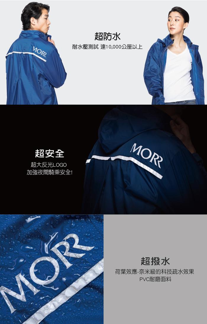 (複製)MORR 超防水-8秒速穿-PostPosi 反穿雨衣(復古黃)