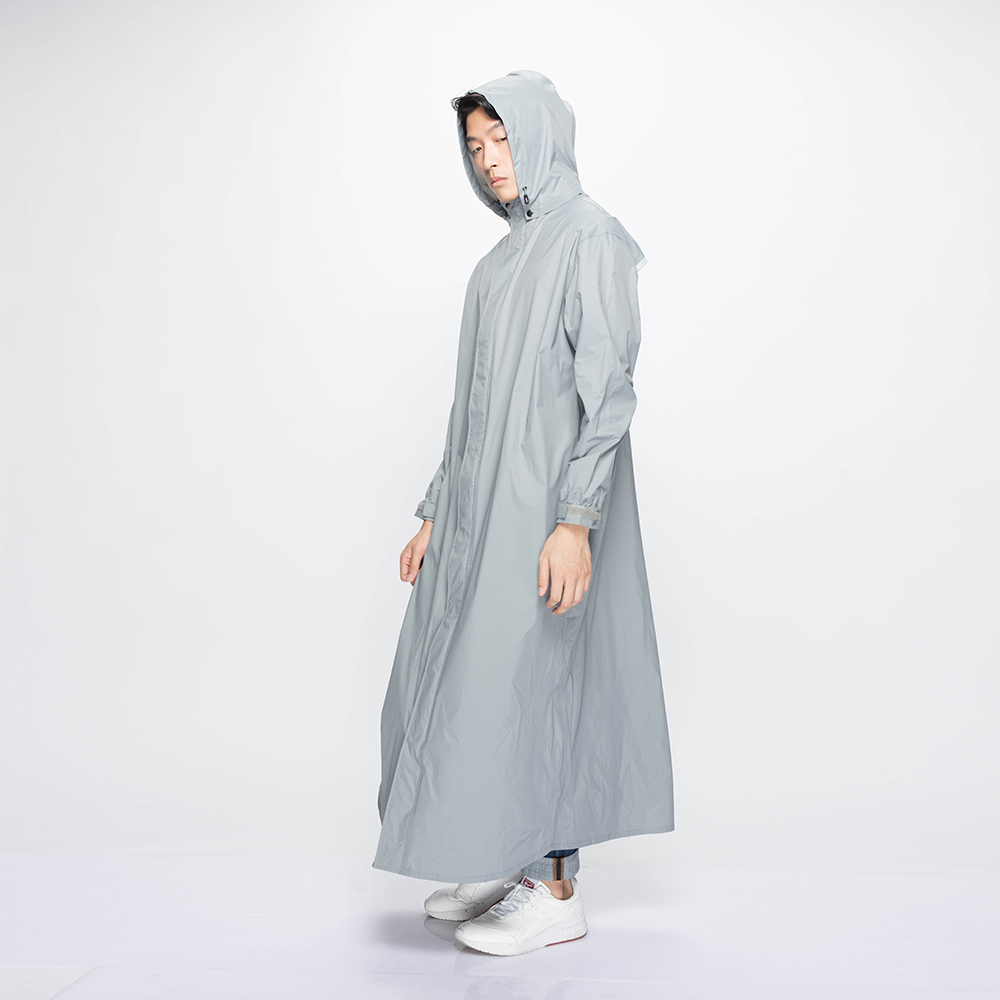 MORR|超防水-Dimensional 前開雨衣(紐約灰)