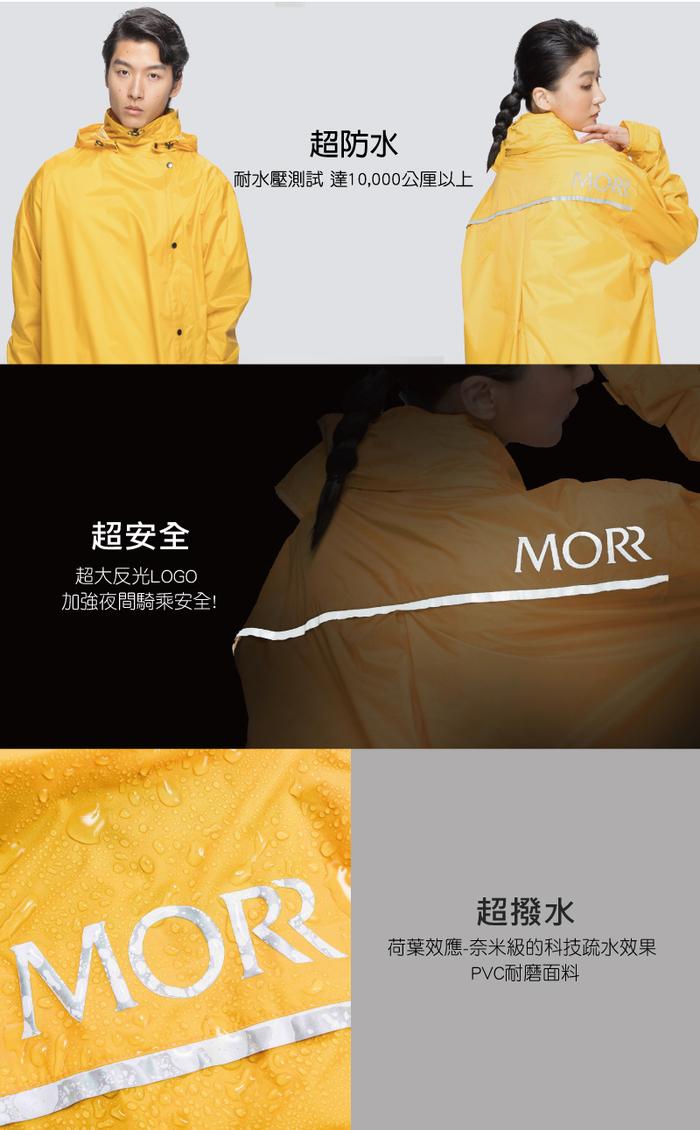 (複製)MORR|超防水-腹部不積水-Slashie 斜前開雨衣(蜜桃粉)