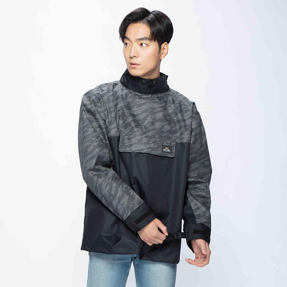 MORR|Postshorti 磁吸式反穿防水外套2.0 - 無口袋設計(晶亮黑)