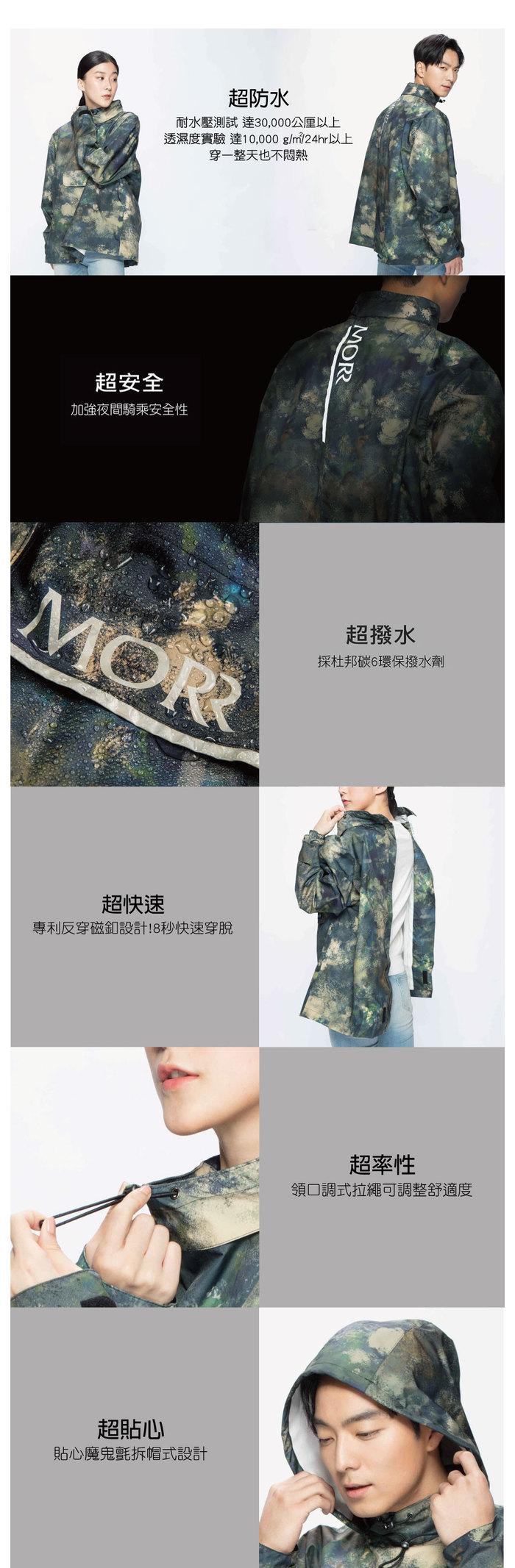 (複製)MORR Postshorti 磁吸式反穿防水外套2.0 - 無口袋設計(晶亮黑)