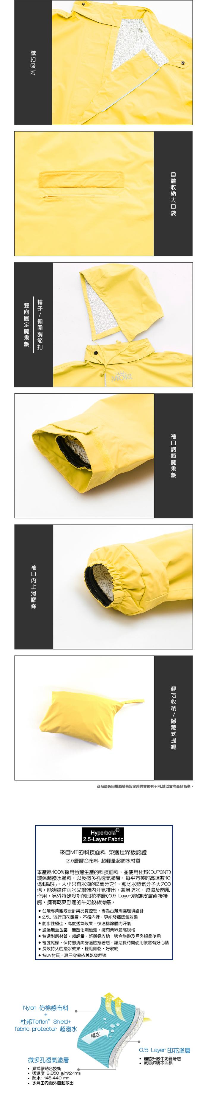 (複製)MORR|Postshorti 磁吸式反穿防水外套(蜜桃粉)