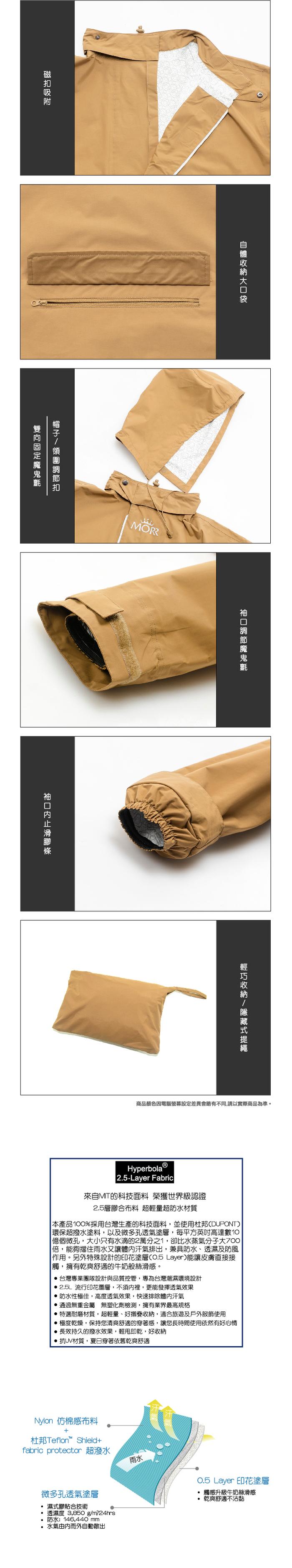 (複製)MORR Postshorti 磁吸式反穿防水外套(經典黃)
