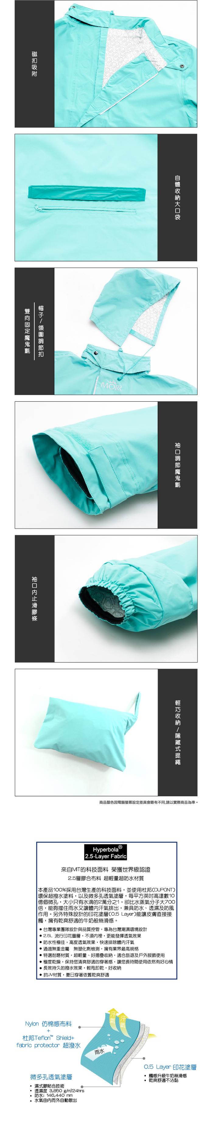 (複製)(複製)MORR|Postshorti 磁吸式反穿防水外套(開心果綠)
