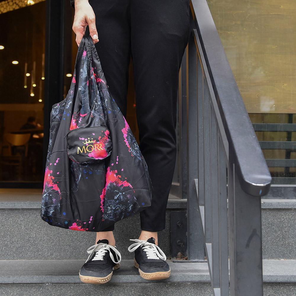 MORR|動物派對-防撥水收納購物袋(潑墨印花)
