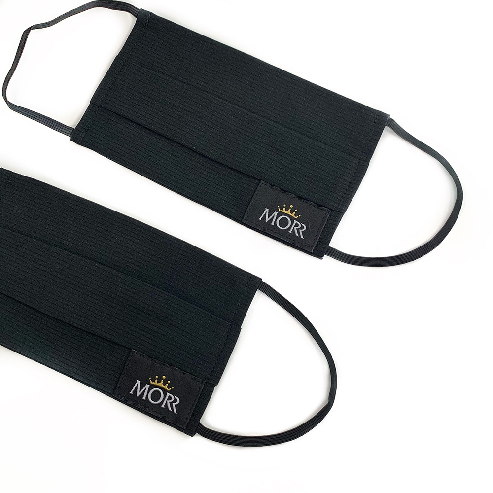 MORR|MIT長效防護抗菌口罩套-有掛耳(個性黑)