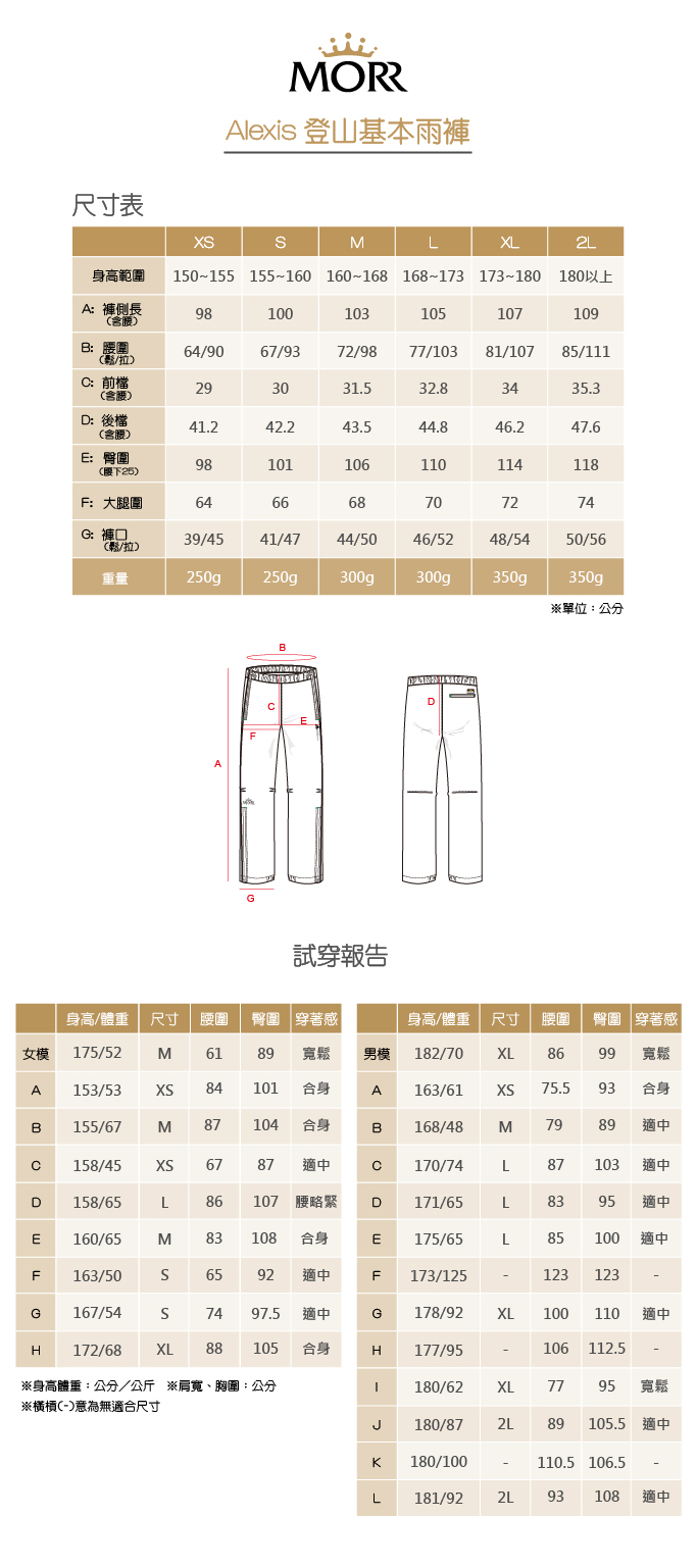 MORR|Alexis高動能防水登山褲(栗酒紅)