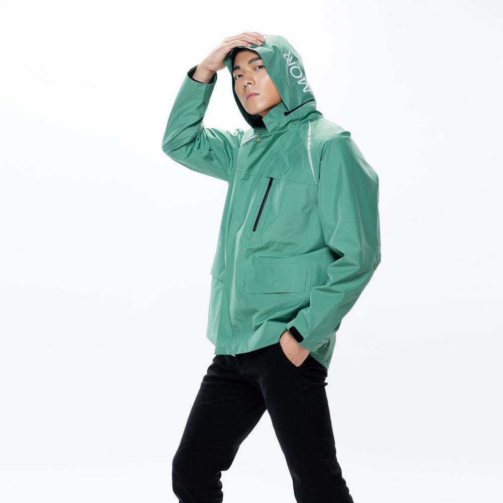 MORR|Techler 流線剪裁機能防水外套(青石綠)
