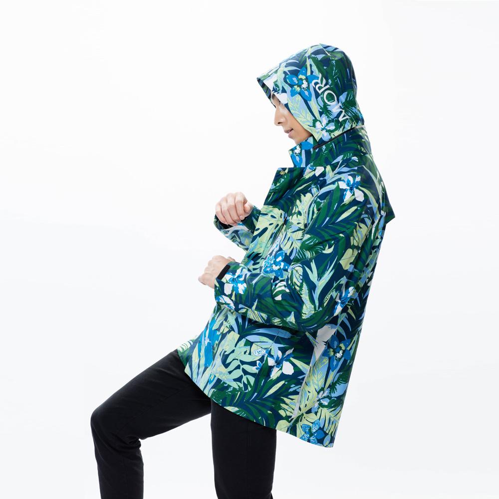 MORR|Techler 流線剪裁機能防水外套(叢林綠)